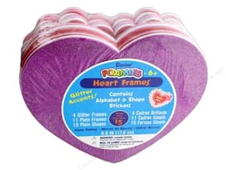 craft & hobbies: Darice Foamies Frames Assorted Hearts