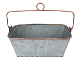 Darice Planter Rectangle 8 in. x 4 in. x 3.75 in. Galvanized