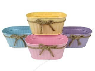 Darice Tin Planter Oval Set/4 Pastel (4 pieces)