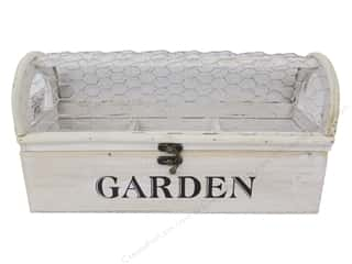 decorative box: Darice Planter With Chicken Wire 13 in. x 4.25 in. x 6.75 in. White