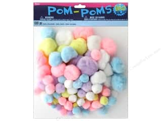 craft & hobbies: Darice Pom Poms Assortment Spring 100 pc