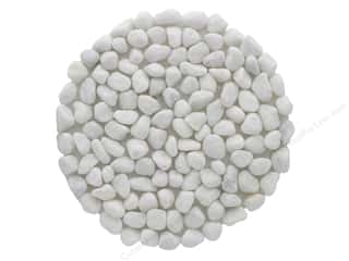 Darice Pebble Mat Round 8 in. White