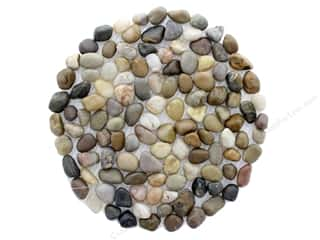 novelties: Darice Pebble Mat Round 8 in. Mixed