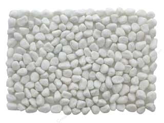 novelties: Darice Pebble Stone Mat 12 in. x 8 in. White