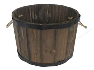 "Darice Wood Bucket 14x14x9"" Brown"