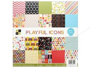 Die Cuts with a View 12 x 12 in. Paper Stack Playful Icons