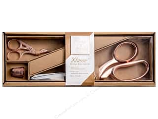 needle: Klasse Premium Scissor Set 3 pc. Rose Gold