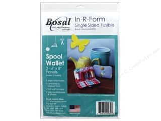 Bosal In R Form Foam Stabilizer Fusible Single Sided 6 in. x 8 in. White 2 pc Spool Wallet