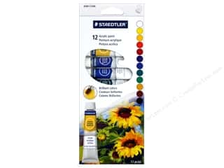 craft & hobbies: Staedtler Acrylic Paint Set 12 pc (6 sets)