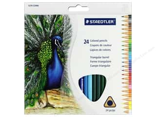 colored pencils: Staedtler Colored Pencil Triangular 24 pc (6 sets)