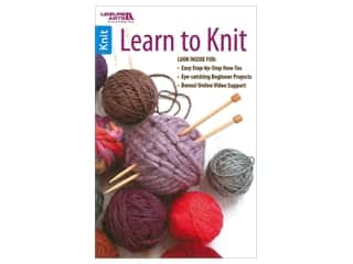 books & patterns: Leisure Arts Learn To Knit Book