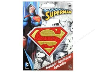 C&D Visionary Applique Superman Logo With Silver