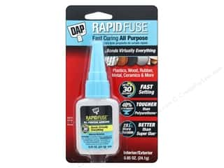glues, adhesives & tapes: DAP All Purpose Adhesive RapidFuse .85 oz Clear