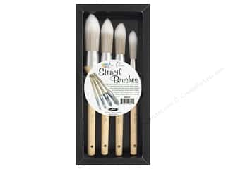 Contact Crafts Ken Oliver Stencil Brush Set 4pc