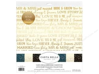 Carta Bella Love Story Collection Kit 12 in. x 12 in. Foil Gold