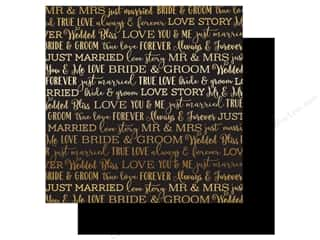 Carta Bella Love Story 12 in. x 12 in. Foil Black (25 pieces)