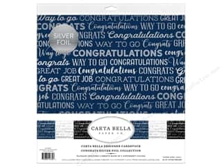 Carta Bella Congrats Collection Kit 12 in. x 12 in. Foil Silver