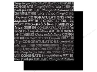 Carta Bella Congrats 12 in. x 12 in. Foil Black (25 pieces)