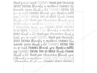 Carta Bella Many Thanks 12 in. x 12 in. Foil White (25 pieces)