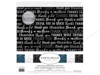 scrapbooking & paper crafts: Carta Bella Many Thanks Collection Kit 12 in. x 12 in. Foil Silver
