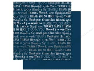 Carta Bella Many Thanks 12 in. x 12 in. Foil Navy (25 pieces)