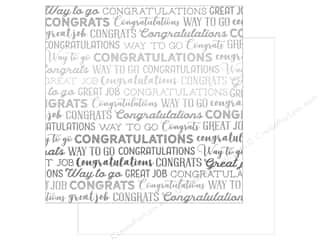 Carta Bella Congrats 12 in. x 12 in. Foil White (25 pieces)