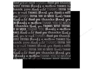 Carta Bella Many Thanks 12 in. x 12 in. Foil Black (25 pieces)