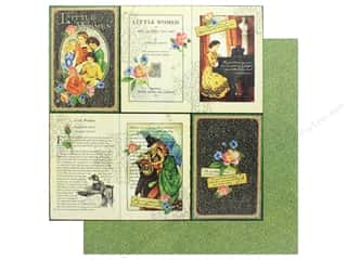 Graphic 45 Collection Little Women Paper 12 in. x 12 in. Literary Lessons (25 pieces)