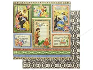 Graphic 45 Collection Little Women Paper 12 in. x 12 in.  Something Splendid (25 pieces)