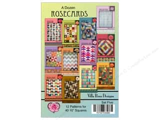 Villa Rosa Designs A Dozen Rosecards Set 5 Pattern