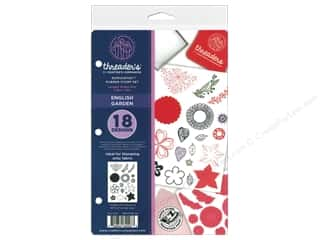 scrapbooking & paper crafts: Crafter's Companion Threaders Rubber Stamp Set English Garden