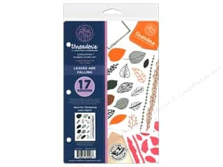 scrapbooking & paper crafts: Crafter's Companion Threaders Rubber Stamp Set Leaves are Falling