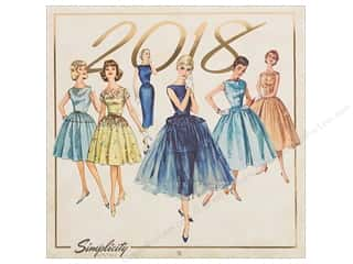 Simplicity Notions Vintage 12 in. x 12 in. Wall Calendar 2018