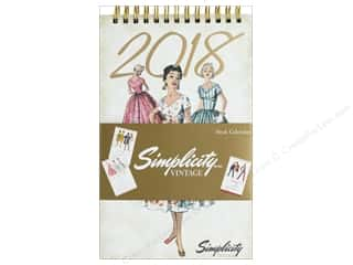 gifts & giftwrap: Simplicity Notions Vintage 5 in. x 8 in.  Desk Calendar 2018