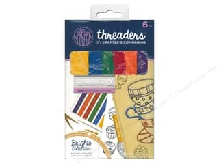 yarn & needlework: Crafter's Companion Threaders Embroidery Stranded Cotton - Brights