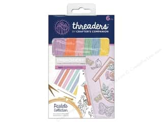 yarn & needlework: Crafter's Companion Threaders Embroidery Stranded Cotton - Pastels