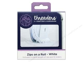 sewing & quilting: Crafter's Companion Threaders Zips on a Roll White