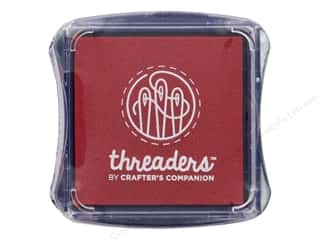 craft & hobbies: Crafter's Companion Threaders Fabric Ink Pad Red