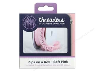 sewing & quilting: Crafter's Companion Threaders Zips on a Roll Soft Pink
