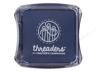 scrapbooking & paper crafts: Crafter's Companion Threaders Fabric Ink Pad Blue