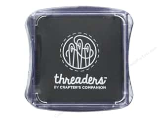 ink pad: Crafter's Companion Threaders Fabric Ink Pad Black