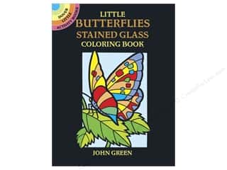 Dover Publications Little Butterflies Stained Glass Color Book