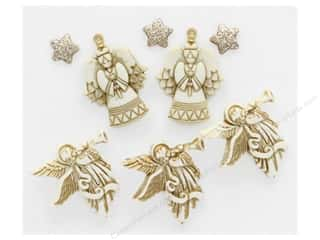 Buttons: Jesse James Embellishments Christmas Glitter Angels