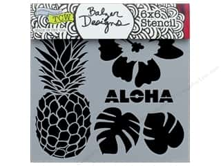 "The Crafter's Workshop Stencil 6""x 6"" Aloha"
