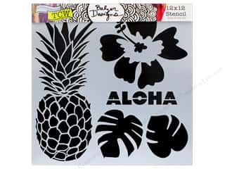 "The Crafter's Workshop Stencil 12""x 12"" Aloha"
