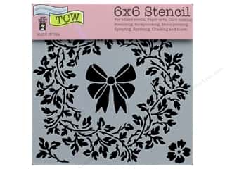"Clearance: The Crafter's Workshop Stencil 6""x 6"" Big Wreath"