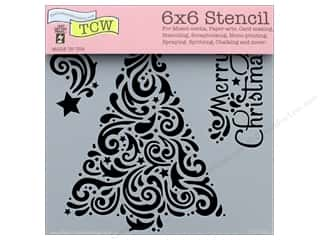 "Clearance: The Crafter's Workshop Stencil 6""x 6"" Christmas Tree"
