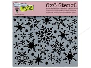 "The Crafter's Workshop Stencil 6""x 6"" Snowflakes"