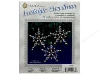 beading & jewelry making supplies: Solid Oak Kit Beaded Ornament Golden Crystal Stars