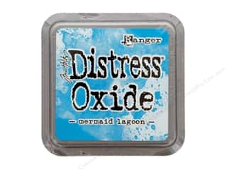 stamps: Ranger Tim Holtz Distress Oxide Ink Pad Mermaid Lagoon